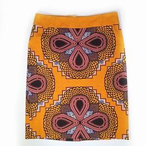 NWOT Anthro Clementina Boho Pencil Skirt sz 6